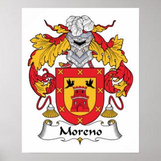 Escudo de la familia de Moreno Póster