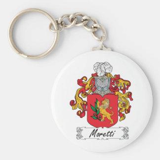 Escudo de la familia de Moretti Llavero Redondo Tipo Pin