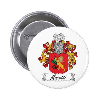 Escudo de la familia de Moretti Pin Redondo 5 Cm