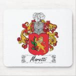 Escudo de la familia de Moretti Alfombrillas De Raton