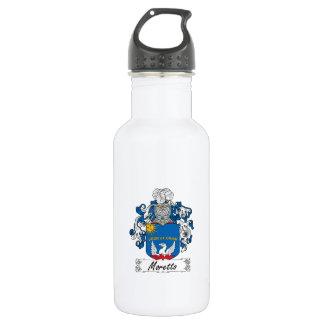 Escudo de la familia de Moretto Botella De Agua De Acero Inoxidable