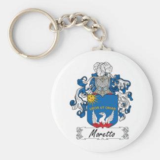 Escudo de la familia de Moretto Llavero Redondo Tipo Pin