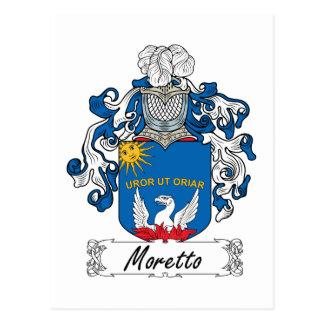 Escudo de la familia de Moretto Tarjetas Postales