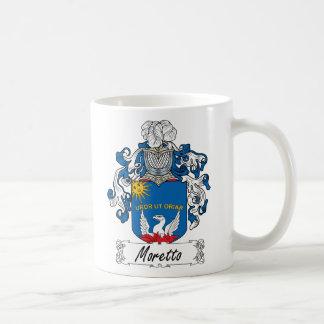 Escudo de la familia de Moretto Taza De Café
