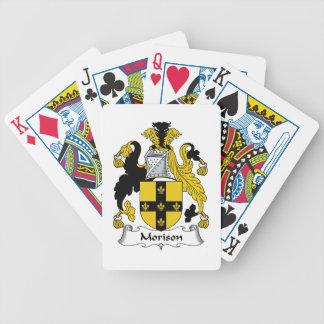 Escudo de la familia de Morison Baraja Cartas De Poker