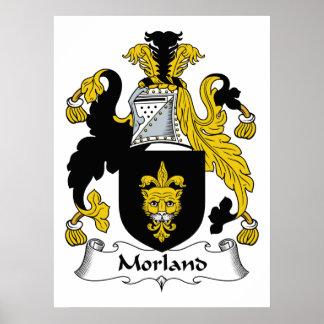 Escudo de la familia de Morland Posters