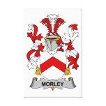 Escudo de la familia de Morley Impresiones En Lona