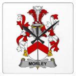 Escudo de la familia de Morley Relojes De Pared