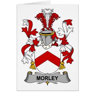 Escudo de la familia de Morley Tarjeta De Felicitación