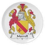 Escudo de la familia de Morrell Plato De Comida