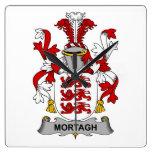 Escudo de la familia de Mortagh Relojes