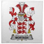 Escudo de la familia de Mortagh Servilleta De Papel
