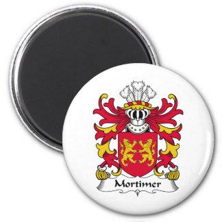 Escudo de la familia de Mortimer Imán Redondo 5 Cm