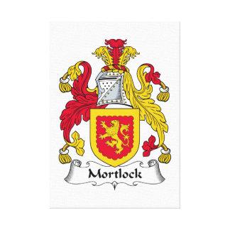 Escudo de la familia de Mortlock Impresiones En Lona
