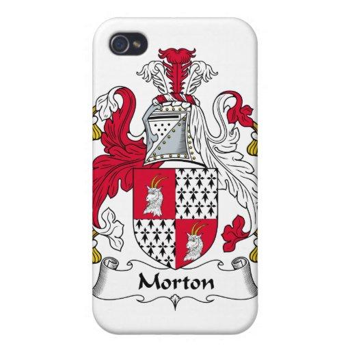 Escudo de la familia de Morton iPhone 4 Carcasa