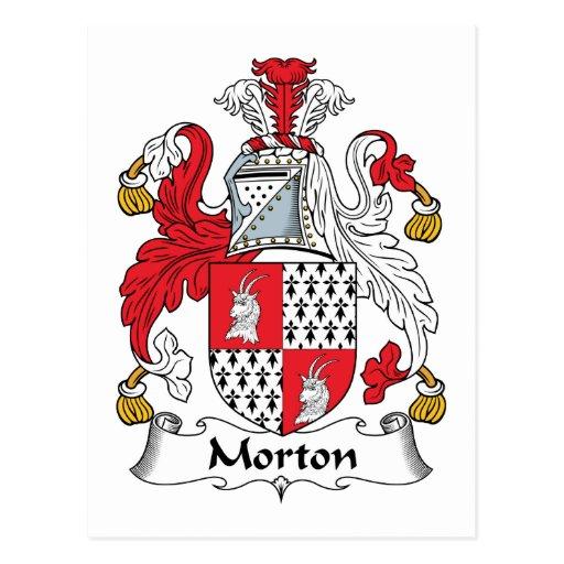 Escudo de la familia de Morton Postales