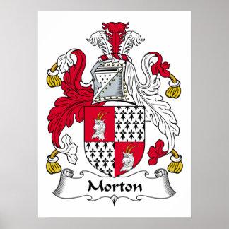 Escudo de la familia de Morton Posters