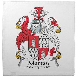 Escudo de la familia de Morton Servilleta