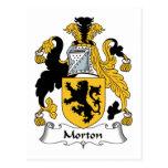 Escudo de la familia de Morton Tarjeta Postal