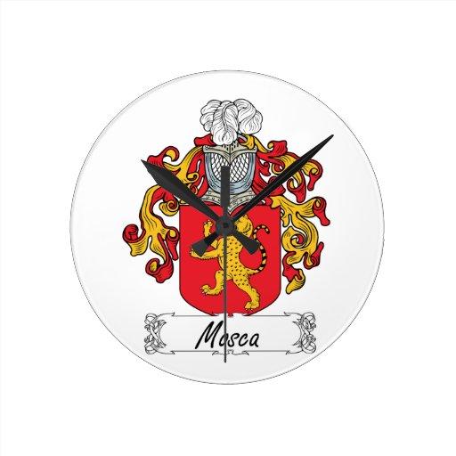 Escudo de la familia de Mosca Reloj Redondo Mediano