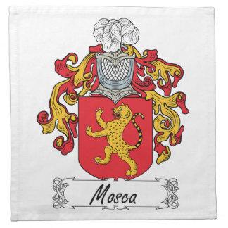 Escudo de la familia de Mosca Servilleta Imprimida
