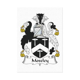 Escudo de la familia de Moseley Impresiones En Lona Estiradas