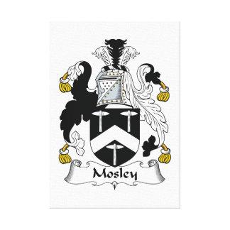 Escudo de la familia de Mosley Impresiones De Lienzo