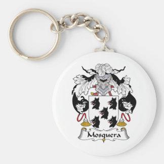 Escudo de la familia de Mosquera Llavero Redondo Tipo Pin