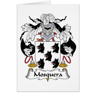 Escudo de la familia de Mosquera Tarjeta De Felicitación