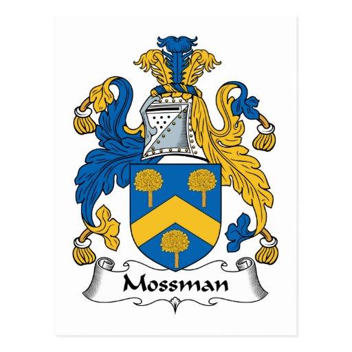 Escudo de la familia de Mossman Tarjetas Postales