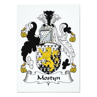 """Escudo de la familia de Mostyn Invitación 5"""" X 7"""""""