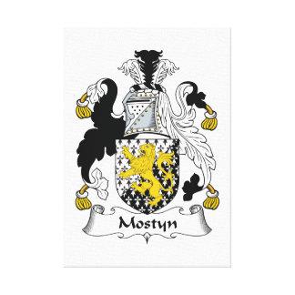 Escudo de la familia de Mostyn Impresión En Lienzo Estirada