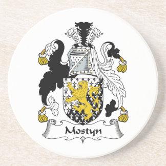 Escudo de la familia de Mostyn Posavasos Manualidades