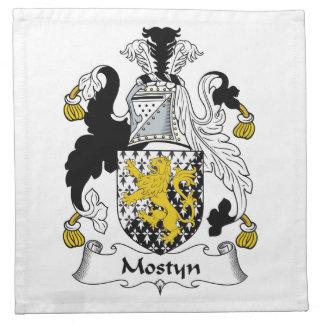 Escudo de la familia de Mostyn Servilletas