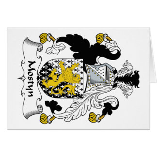 Escudo de la familia de Mostyn Tarjeta De Felicitación