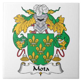Escudo de la familia de Mota Azulejo Cuadrado Grande