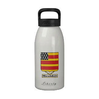 Escudo de la familia de Moulden Botella De Agua Reutilizable