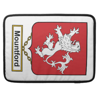 Escudo de la familia de Mountford Funda Para Macbook Pro