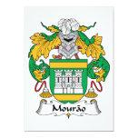 Escudo de la familia de Mourao Invitación 12,7 X 17,8 Cm