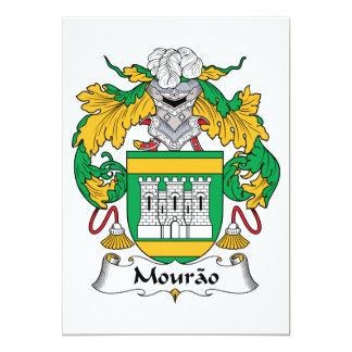 """Escudo de la familia de Mourao Invitación 5"""" X 7"""""""