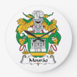 Escudo de la familia de Mourao Reloj De Pared