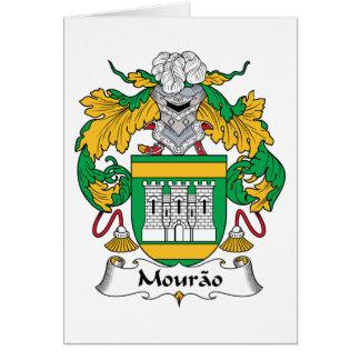 Escudo de la familia de Mourao Tarjeta De Felicitación