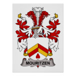 Escudo de la familia de Mouritzen Impresiones