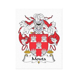 Escudo de la familia de Mouta Lienzo Envuelto Para Galerias