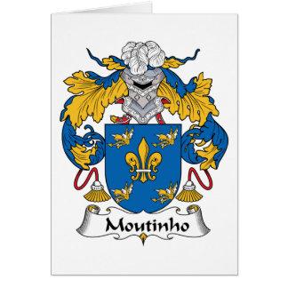 Escudo de la familia de Moutinho Tarjeta De Felicitación