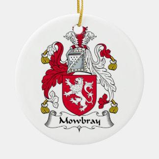 Escudo de la familia de Mowbray Adorno Navideño Redondo De Cerámica