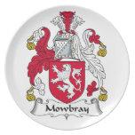 Escudo de la familia de Mowbray Plato De Comida