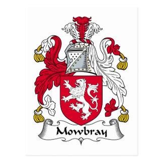 Escudo de la familia de Mowbray Postal