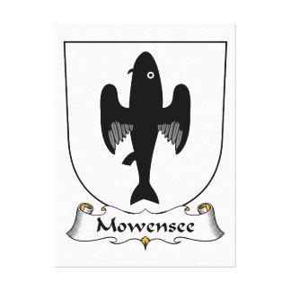 Escudo de la familia de Mowensee Impresiones De Lienzo