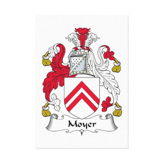 Escudo de la familia de Moyer Impresion De Lienzo